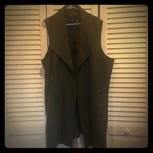 Tahari Green Layering Wool Vest